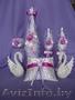 Свадебные бокалы ручной работы на долгую память о прекрасной свадьбе!!